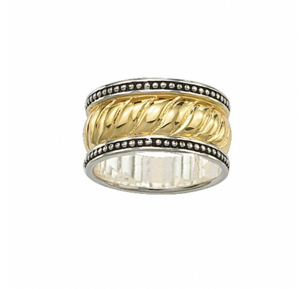 Montana Silversmiths Gold & Silver Wide Band Size 9 Ring