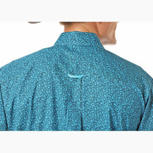 Load image into Gallery viewer, Panhandle Men's Turquoise Print Long Sleeve Western Shirt
