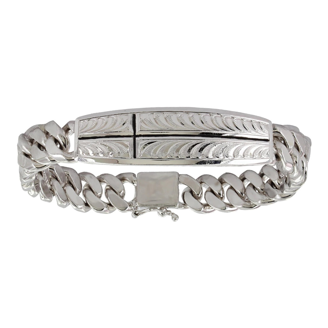 Montana Silversmiths Shielded by Faith Cross Cuban Link Bracelet