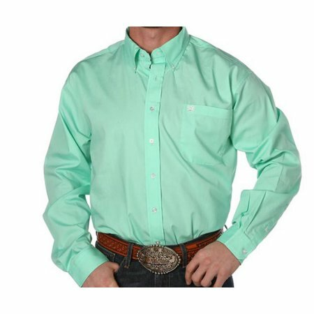 Cinch Apparel Men's Mint Pinpoint Oxford Long Sleeve Shirt 3XL