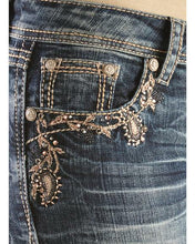 Load image into Gallery viewer, Grace in LA Paisley Vine Embellished Boot Cut Jeans
