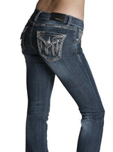 Load image into Gallery viewer, Grace In LA Women's Flap Pocket With Silver Tribal Motif Boot Cut Jeans