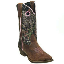 Load image into Gallery viewer, John Deere Boots: Women's Camo Pull On Moisture Wicking Western Boots