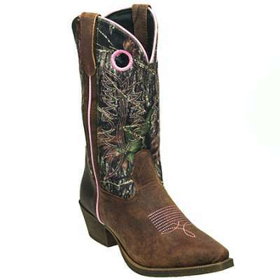John Deere Boots: Women's Camo Pull On Moisture Wicking Western Boots