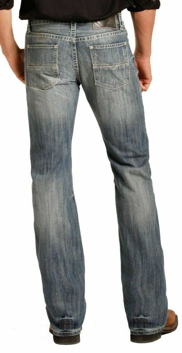 Rock & Roll Cowboy Men's Med Vintage Pistol Cut Jeans