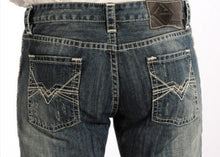 Load image into Gallery viewer, Rock & Roll Cowboy Men's Regular Straight Leg Abstract Embroidery Jeans