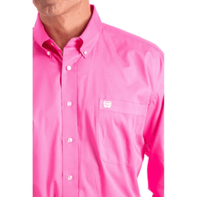 Load image into Gallery viewer, Cinch Men's Solid Pink Button Down Shirt