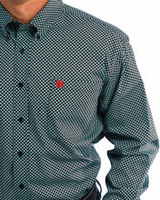 Load image into Gallery viewer, Cinch Men's Blue And Black Diamond Print Western Shirt