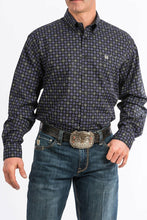 Load image into Gallery viewer, Cinch Men's Black And Purple Print Western Shirt