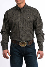 Load image into Gallery viewer, Cinch Men's Black Paisley Button Up Western Shirt