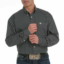 Load image into Gallery viewer, Cinch Men's Black And Gray Geometric Print Western Shirt