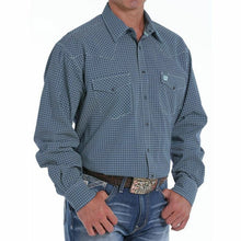 Load image into Gallery viewer, Cinch Men's Navy Print Snap Shirt