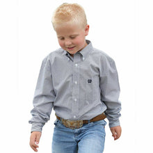 Load image into Gallery viewer, Cinch Boy's Tencel Navy Print Western Shirt