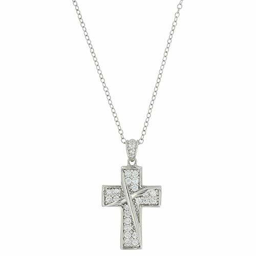 Montana Silversmiths Ribboned Cross Necklace