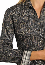 Load image into Gallery viewer, Panhandle Women's Paisley Rough Stock Western Snap Front Shirt