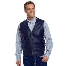 Load image into Gallery viewer, Cripple Creek Men's Outerwear Men's Button Front Leather Vest