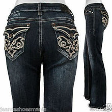 Load image into Gallery viewer, Grace in L.A. Women's Embroidered Bootcut Jeans
