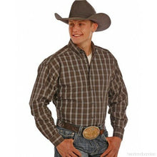 Load image into Gallery viewer, Panhandle Tuf Cooper Performance Grey and Tan Plaid Western Shirt