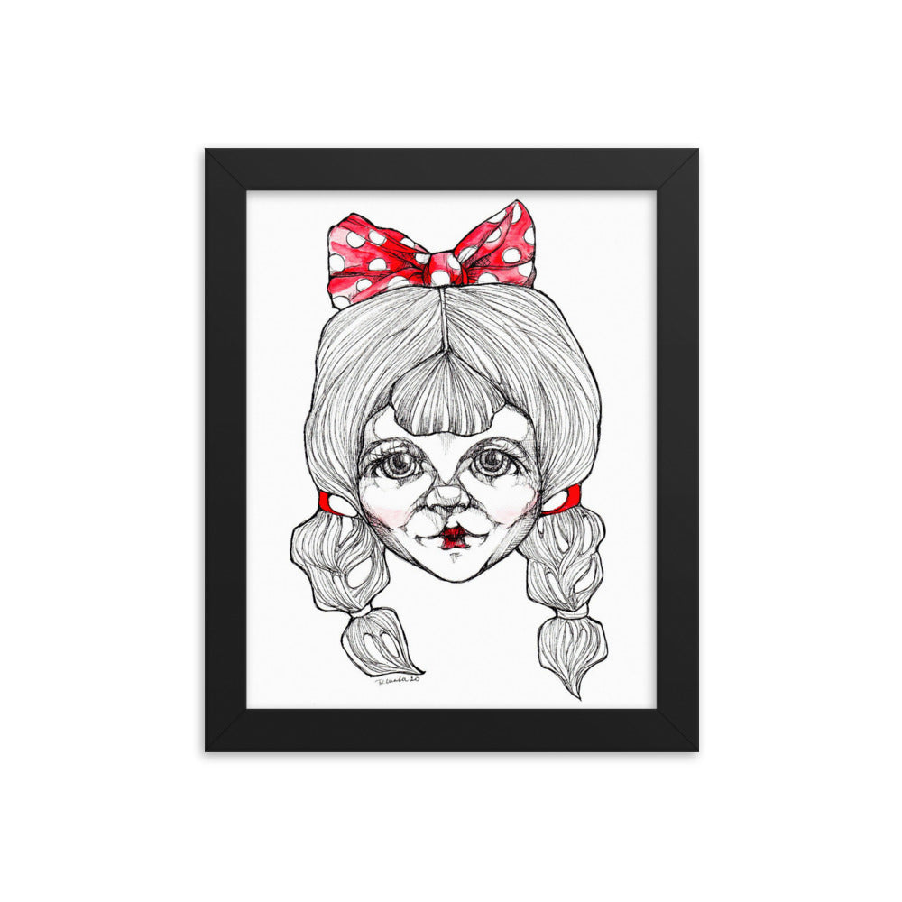 Girl 1 - Framed poster (Print)