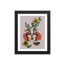 Load image into Gallery viewer, Girl 3 Coloured - Framed poster (Print)