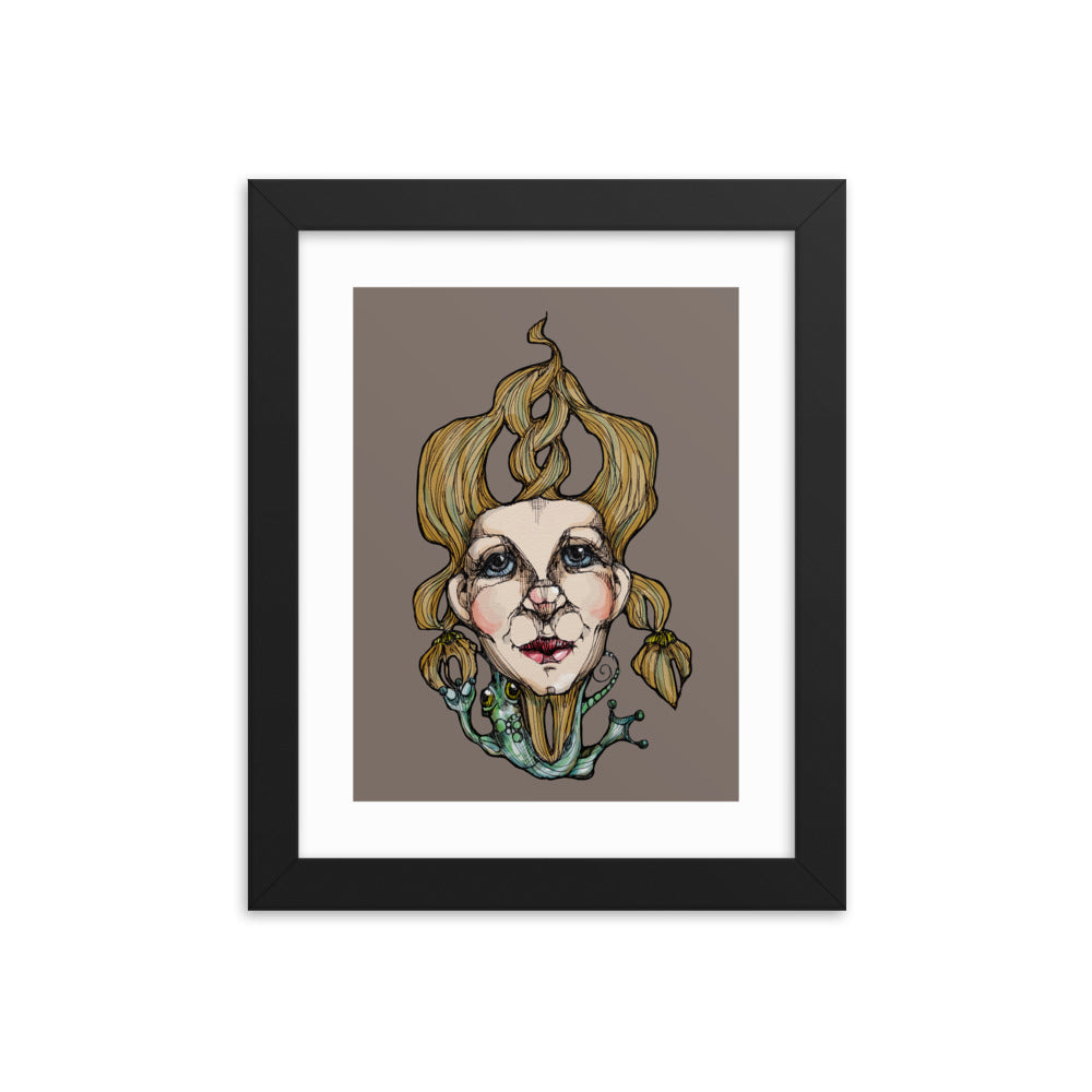 Girl 17 Coloured - Framed poster (Print)