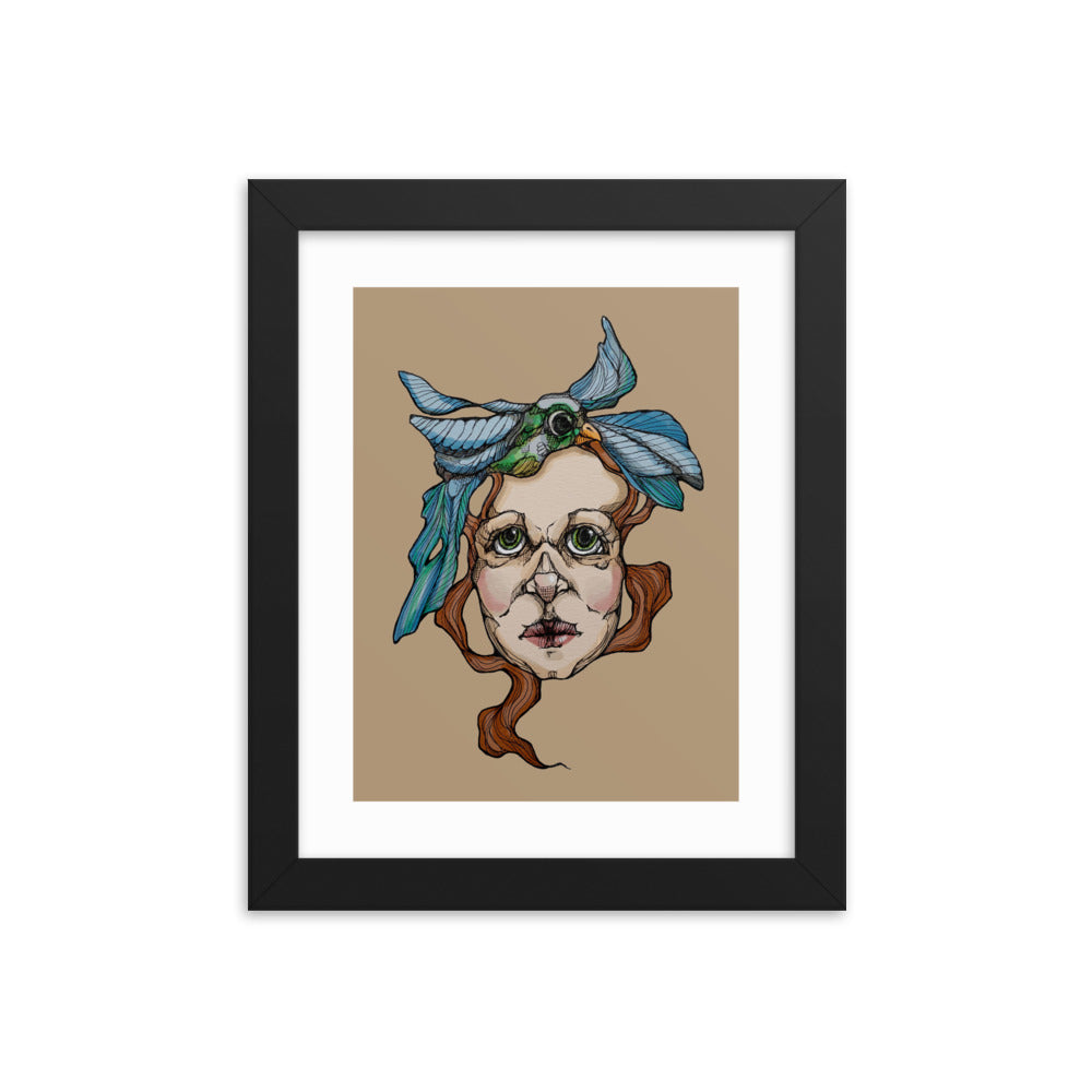 Girl 18 Coloured - Framed poster (Print)