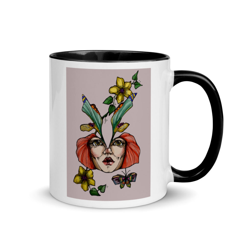 Girl 3 Coloured - Mug