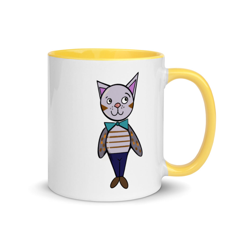 White & Yellow Cat Mug