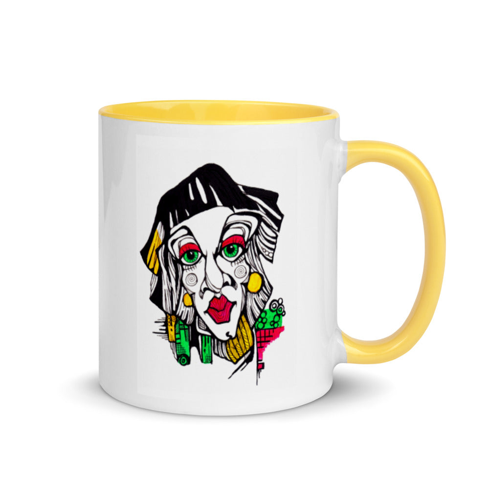 White & Yellow Strange - Mug