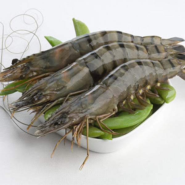 Whole Raw Black Tiger Prawns