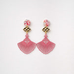 Load image into Gallery viewer, Violetta - Fan Drop Earrings