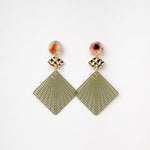 Load image into Gallery viewer, Elise - Diamond Maze Cut Earring