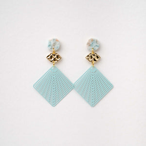 Elise - Diamond Maze Cut Earring