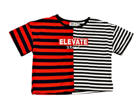 Higher Elevation Crop top - Black/White/Red - 2dope4kidz.myshopify.com
