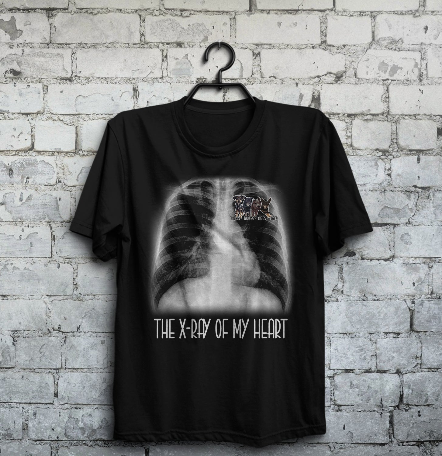 Personalized Dog Shirt - The X-ray of my heart Leora Lucas 2 customer