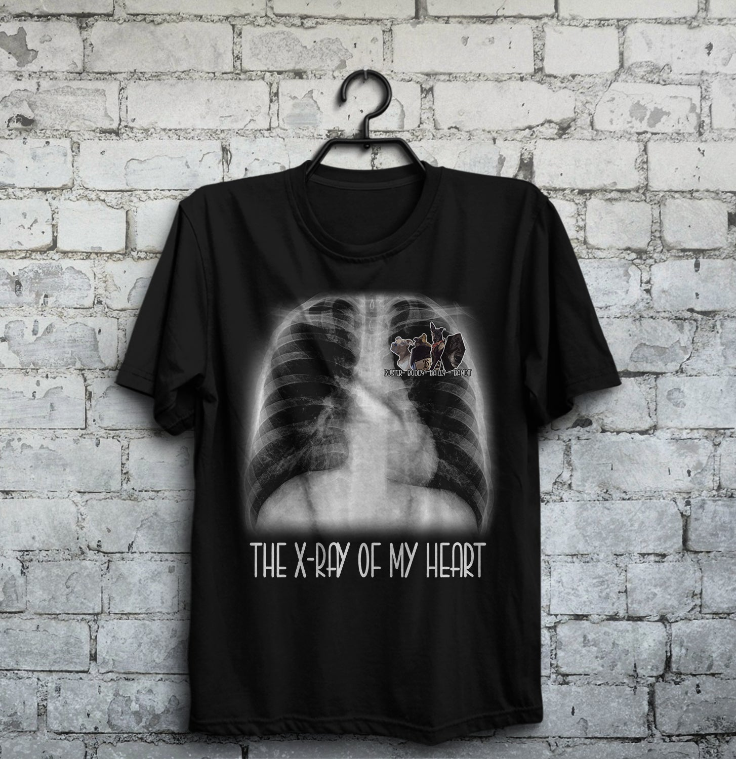 Personalized Dog Shirt - The X-ray of my heart Leora Lucas customer