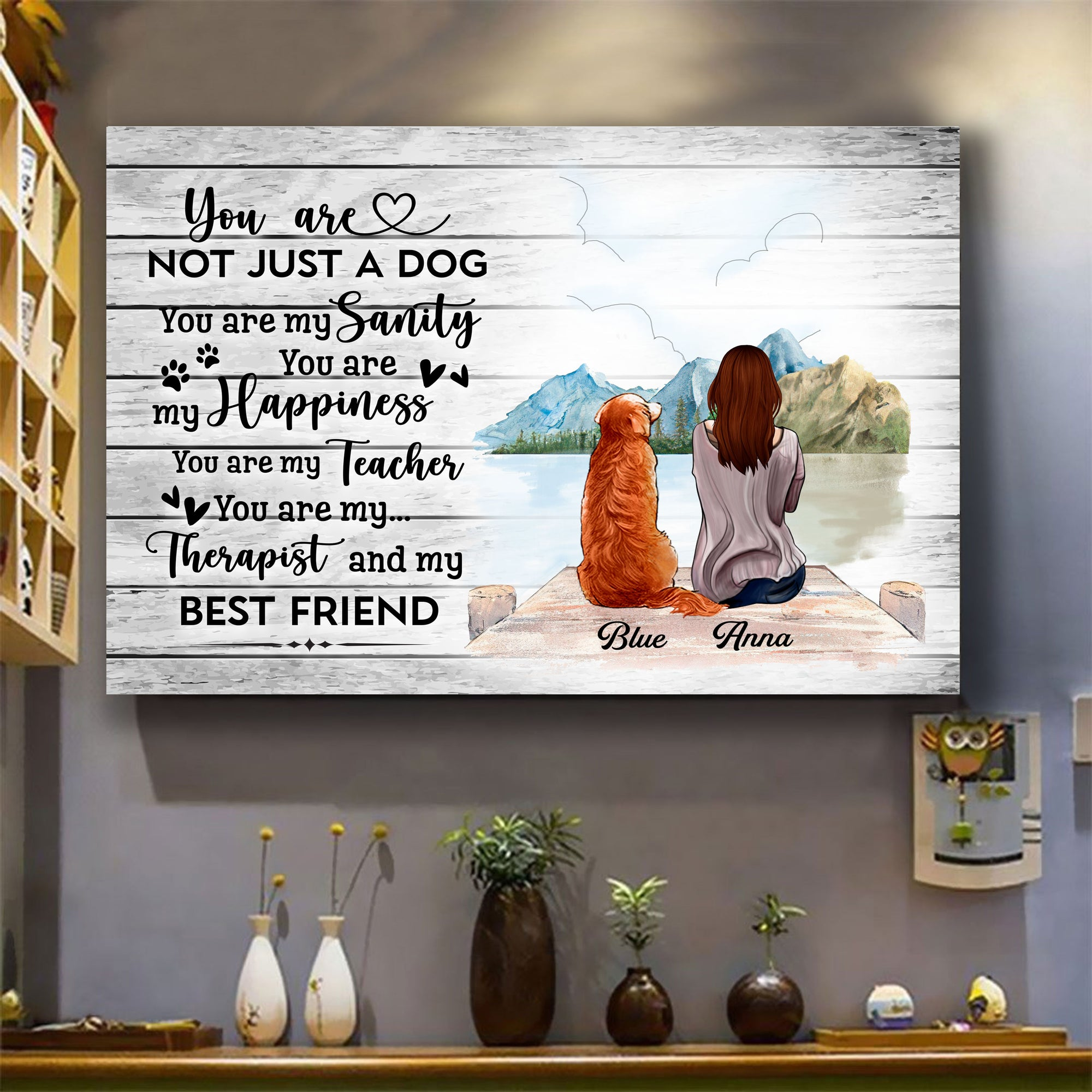 Personalized Canvas & Poster for Dog Lovers - You Are Not Just Dogs