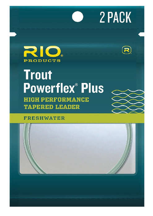 Rio 9ft Powerflex Plus Leaders (2 pack)