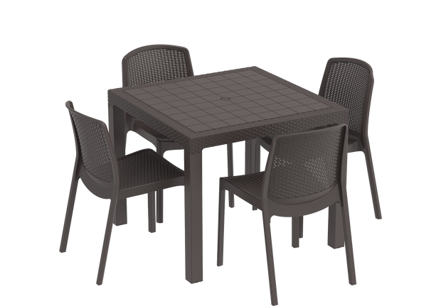Cedarattan 4-seater Resin Rattan Dining Set
