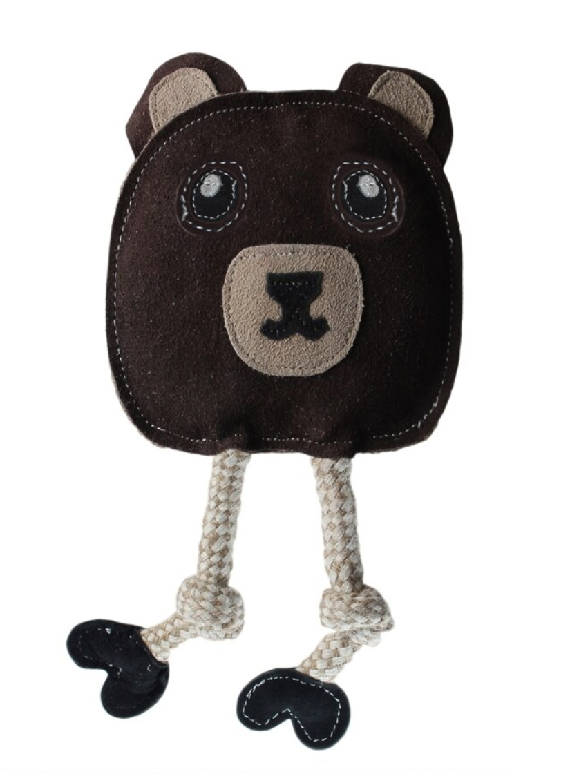 Flattie - Leather & Jute Bear - 11