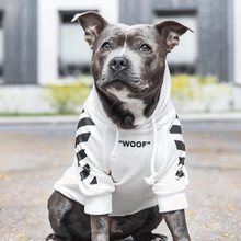 "Load image into Gallery viewer, ""WOOF"" Dog Hoodie by Spark Paws"
