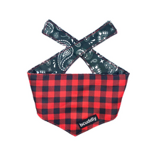 Load image into Gallery viewer, Dog Bandana - Red Plaid Classic by Bcuddly