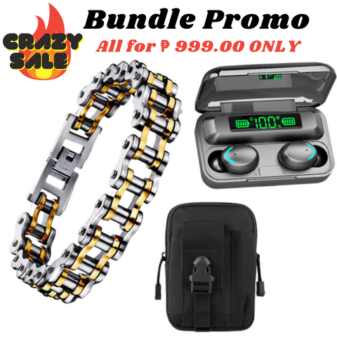 30th Avenue™ GOLD & SILVER BIKER BRACELET BUNDLE SALE