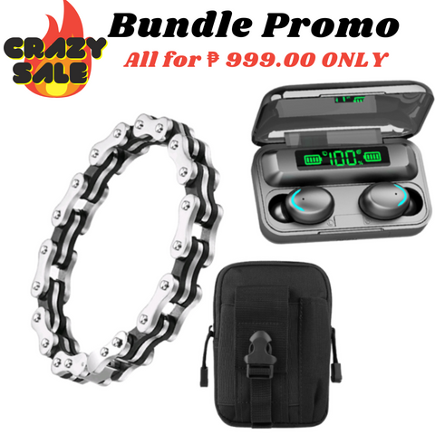 30th Avenue™ BLACK & SILVER BIKER BRACELET BUNDLE SALE