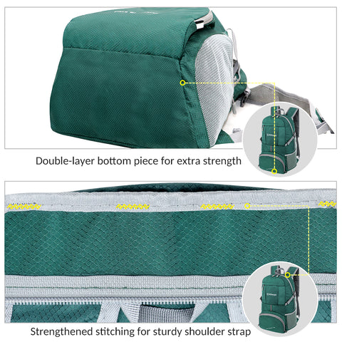 Compact Foldable Packable Backpack for Men Women Durable