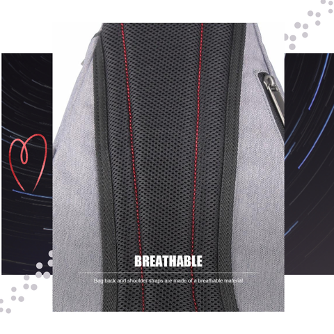 'Mixi Line' Compact Crossbody Shoulder Sling Bag Backpack for Men Women Breathable Fabric
