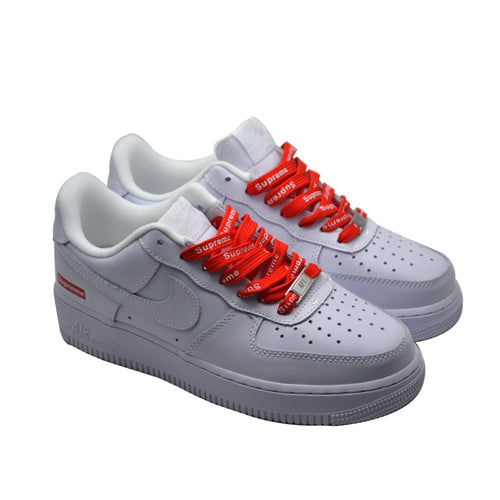 Air Force 1 Supreme White Red Low - modernshoestore02