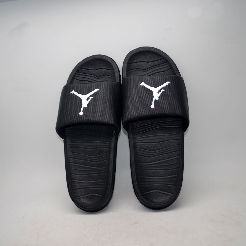Jordan Slides Black White