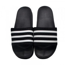 Load image into Gallery viewer, Adidas Slides Black White