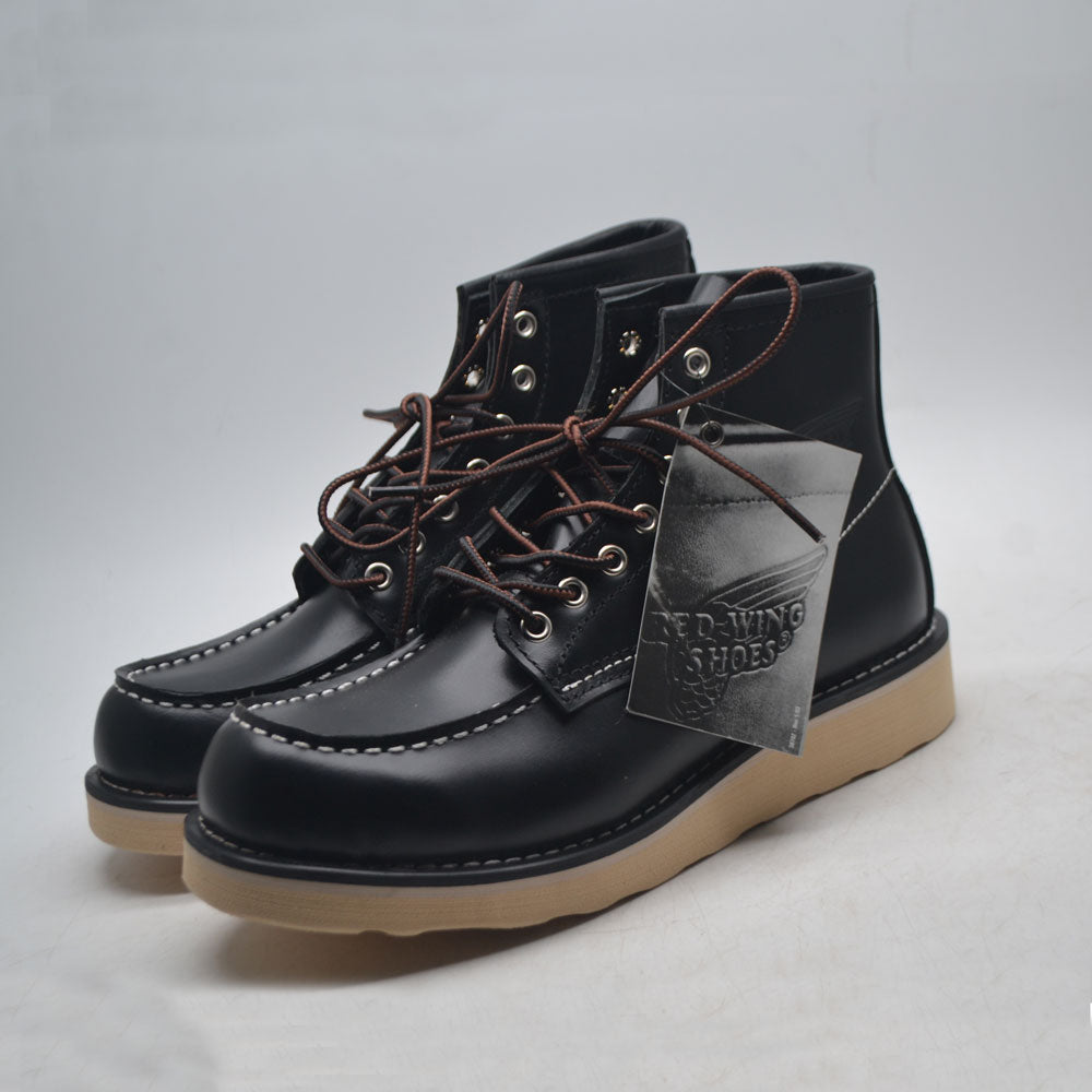 Red Wings Moc Toe Black
